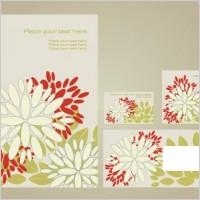 Simple vi template vector flowers 1