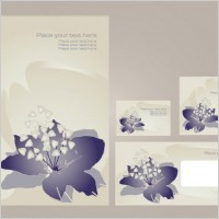 Link toSimple vi template vector flowers 3