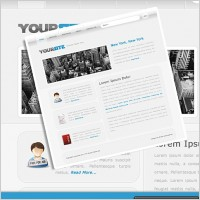 Link toSimple web design layout psd