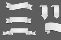 Link toSimple white ribbon design vector