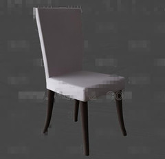 Link toSimple white wooden chair 3d model