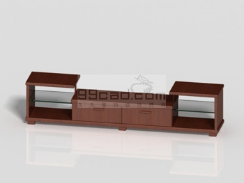 Link toSimple wooden tv cabinet 3d model