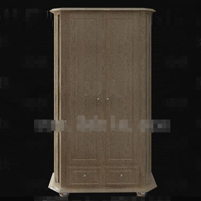 Link toSimple wooden two-door wardrobe 3d model