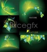 Link toSimulation of green leaf background vector