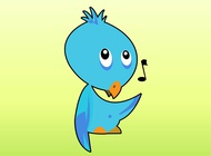Link toSinging bird cartoon vector free