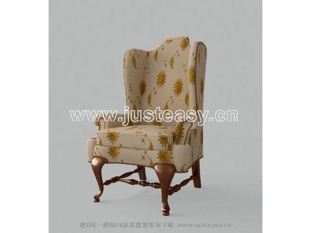 Link toSingle high-back sofa 3d model