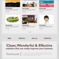 Link toSingle page website psd