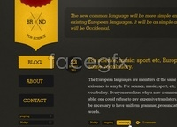 Link toSite template - dark and yellow