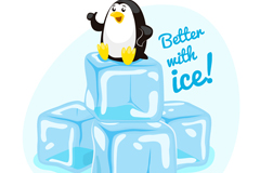 Link toSitting on the ice penguin vector
