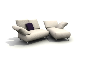 Link toSitting or lying sofa combination 3d model
