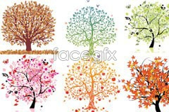 Link toSix beautiful impression tree vector