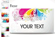 Link toSix brilliant business card template vector