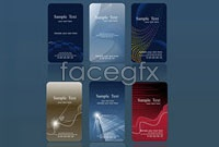 Link toSix business card template vector graphic