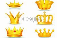 Link toSix gold crown icon vector