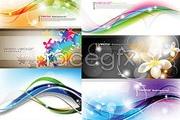 Link toSix gorgeous curves multicolour background vector