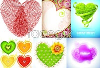 Six love picture pattern vector
