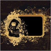 Link toSkeleton pattern background 03 vector
