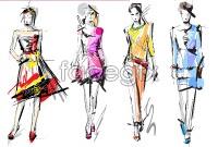 Link toSketch for fashion design vector