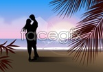 Link toSketch of beaches for men and women vector