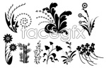 Link toSketch of branches and leaves in black and white mosaic vector