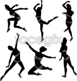 Link toSketch of gymnastic movements vector