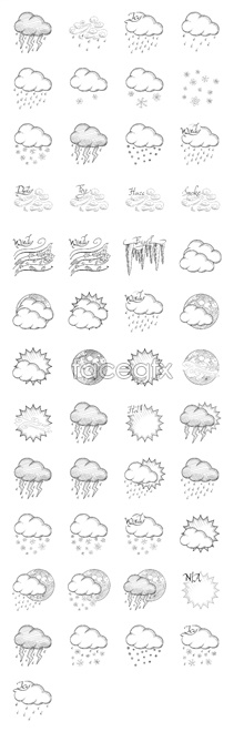 Link toSketch weather forecast icons