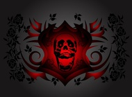 Link toSkull and roses vector free