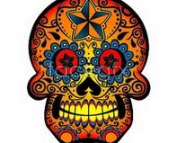 Link tographics vector mode color trend skull Skull