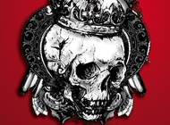 Link toSkull with crown vector free