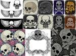 Link toSkulls design vector