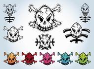 Link toSkulls vector graphics free
