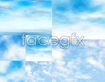 Link toSky clouds background vector