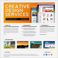 Link toSleek minimal website psd template