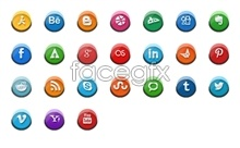 Link toSmall 3d social media icons