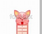Link toSmall animal pig pink table cabinet psd