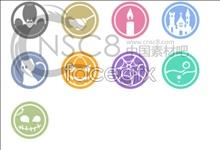 Link toSmall cartoon design desktop icons