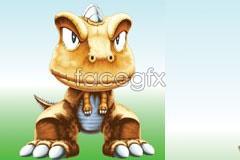 Link toSmall dinosaur a super-cute cartoon vector