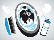 Small dog bath vector free