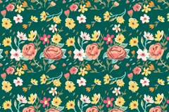 Link toSmall floral seamless background vector