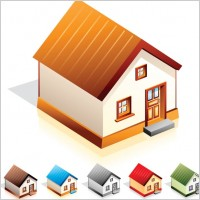 Link toSmall house icon vector