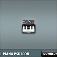 Link toSmall piano psd icon