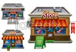 Link toSmall shop model vector