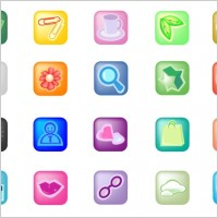 Link toSmall square icon vector