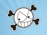 Link toSmiling skull vector free
