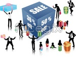 Link toSnapshots of people shopping vector