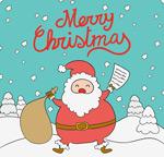 Link toSnow cartoon santa claus vector