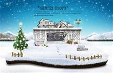 Link toSnow christmas psd template