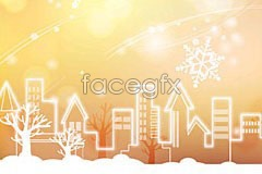 Link tovector color fantastic of full city Snow