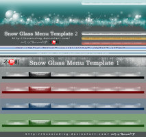 Link toSnow glass menu template