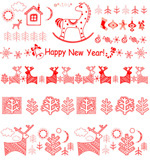 Link toSnow horse pattern vector